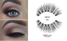 4 x Red Cherry #43 STEVI schwarze Echthaar Wimpern - strip lashes