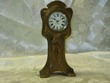 New ListingNovelty golden Seth Thomas clock metal model with woman on the front (Ref653-2)
