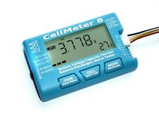 AOK CellMeter 8 Battery Checker 2-8 LIPO - Multifunctional Servo Checker Tester