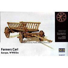 Plastic Model Kit Master Box 1/35 Farmers Cart Europe Wwii Era # 3537