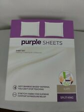 Purple Sheets King SPLIT KING - Slate Gray Stretchy. Breathable. Soft.