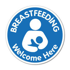 Breastfeeding Welcome Here Nursing Sticker Decal Shopfront Trading #7414EN