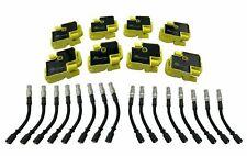 8 Ignition Coils & Plug Wires for S55 SL55 SLK55 AMG SLR 5.5L C55 CL55 CLK55 C43