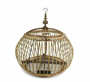 Thai Bamboo Bird Cage, 53cm x 54cm, or Light fitting, lampshade