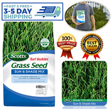 New Scotts Turf Builder Grass Seed Sun and Shade Mix 3 lb Grows in Extreme Condi