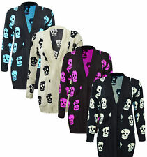 VH6 WOMENS PLUS SIZE KNITTED SKULL CARDIGAN LADIES WINTER BIG LARGE SIZES 16-26