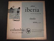 Albeniz, Iberia-book one and book two,Claudio Arrau piano,Columbia ML 4194,