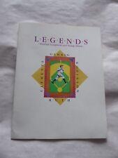 Sello de béisbol leyendas álbum de recortes y álbum - 4 sellos y 4 Tarjetas