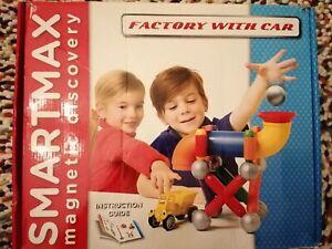 Smartmax SMX403- Factory with car- Riesen - Magnet- Bauspiel, 23 Teile-Neuwertig