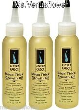 3 x Doo Gro Mega Thick Growth Oil - Promotes Hair Growth and Thickness