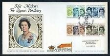 Great Britain 60th Birthday of HM Queen Elisabeth 2nd  silk first day cover #3