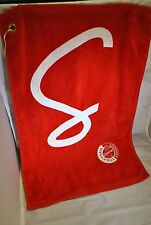NEW Original Red & White Stoli Vodka Golf / Boat Towel Super Absorbent Cotton