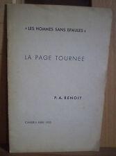 PAB/ Pierre-A. BENOIT/ LA PAGE TOURNÉE/ LES HOMMES SANS ÉPAULES, cahier b, 1953