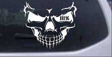 Skull 3 Percent Car or Truck Window Laptop Decal Sticker White 6X6