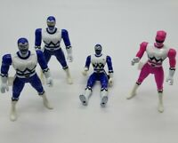 Power Rangers Lost Galaxy Loose Figure Lot 3 Blue & 1 Pink Ranger 1999 Bandai