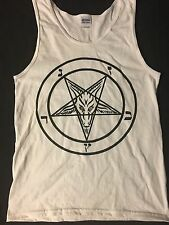 PENTAGRAM small TANK TOP T Shirt horror gothic SATAN satanism 666 FREE SHIPPING
