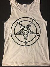 PENTAGRAM small TANK TOP T Shirt horror gothic SATAN satanism 666 FREE SHIPPING