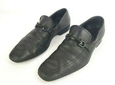 Salvatore Ferragamo Black Leather Horsebit Loafers Mens Size 11