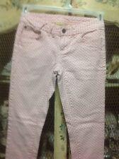 "Princess Vera Wang Pink Heart Jeans Size 0 30"" Inseam Skinny"