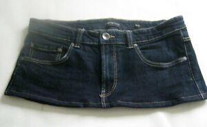 8 Inch Length Dark Blue Denim Red Herring Micro Mini Skirt - Size 14