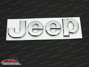 NEW JEEP CHROME BADGE FRONT OR REAR EXCELLENT QUALITY