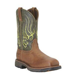 Ariat Mens Workhog Mesteno Waterproof Composite Toe Safety Western Boot 10015400