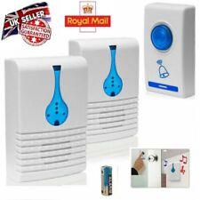 Twin Wireless Door Bell Home Cordless 32 Chime 100M Range Digital Doorbell