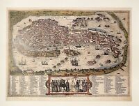 Antique Vintage Map of Venice, 1588 - Theatrum Orbis Poster Print - NEW