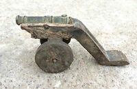 Old Early V Rare Handmade Mughal Miniature Brass War Cannon,Rich Patina