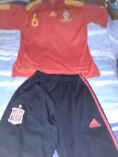 Spain Adidas Tracksuit Bottoms And Spain Football Iniesta Jersey