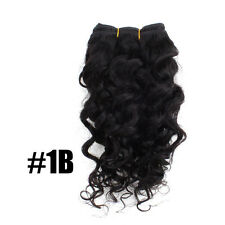 10inch Brazillian Remy Deep Wave Curly Human Extension Hair Weaving Weft 50g