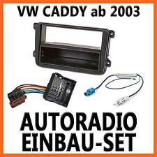 Auto Radioblende Einbauset / Rahmen+  Adapter-Kabel für VW Caddy 2K ab 2003