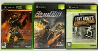 Bundle Lot of 3 PAL region Games Halo 2 Roadkill Tony Hawk Underground A08