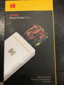 Kodak Wireless Mini Portable Mobile Instant Photo White Printer Wifi Nfc pm-210