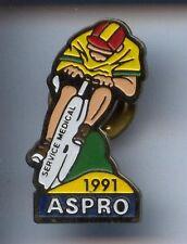 RARE PINS PIN'S .. VELO CYCLISME CYCLING TOUR DE FRANCE MEDICAL ASPRO 1991 ~BY