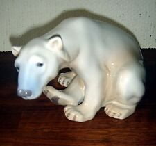 Polar Bear Sitting by Dahl Jensen for Bing & Grondahl & R.C. # 1629 Fact First
