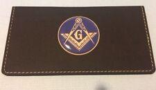 MASONIC MASONRY MASON BLACK Leatherette Checkbook Cover FAUX LEATHER FREE SHIP