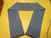 "Hollister Co Checkerboard Blue Grey 72"" X 7.5"" Gray scarf Checkered"