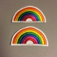 Vintage Rainbow Patch Lot Of 2 Embroidered NOS