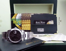 ROLEX Men's DateJust Stainless Steel Chocolate Floral 116200 SANT BLANC