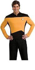 Star Trek The Next Generation Size Med. Gold Operations Uniform Deluxe Shirt NEW