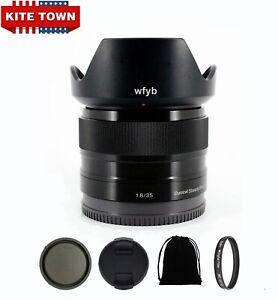 Sony E 35mm f/1.8 OSS Black Lens SEL35F18 for Sony Alpha NEX A7 Series Cameras