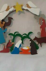 "Nativity Wreath 10"" x 10"""