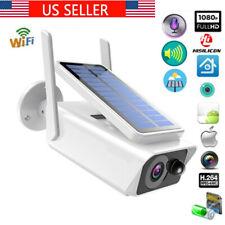 Wifi Wireless 1080P Solar Power IP Camera 2MP CCTV Security Night Vision Outdoor