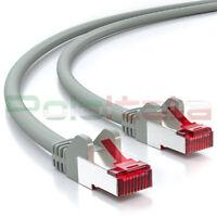 Cavo 15m di RETE Ethernet Lan Schermato Cat6 S/FTP RJ45 network cable pc router