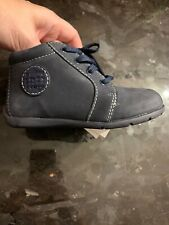 NEW Geox Boys Toddler Boy Blue Lace-up Booties Shoes Walkers Euro 25/US 8.5
