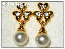 Pearl Yellow Gold Plated Cubic Zirconia Fashion Jewellery