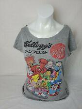 Japanese Rare Pull and Bear Shirt Kellogg's Cereal Mascots Small S Gray