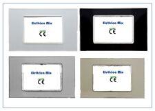 Placche in vetro compatibile bticino living light alta qualità posti 3 4 7
