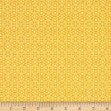 Fabric African Gold Coastal Damask on Yellow Cotton by the 1/4 yard BIN